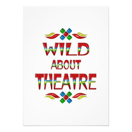 Salvaje sobre teatro invitación personalizada
