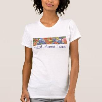 ¡Salvaje sobre Tejas! Camiseta de las señoras