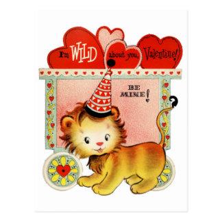 Salvaje sobre usted postal de la tarjeta del día