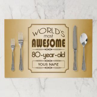 Salvamantel De Papel 80.o mundo de la celebración del cumpleaños del