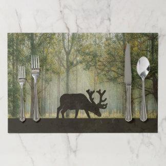 Salvamantel De Papel Alces en diseño del bosque