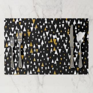 Salvamantel De Papel Arte moderno del triángulo - oro negro