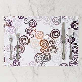 Salvamantel De Papel Arte que remolina púrpura maravilloso