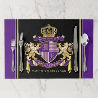 Salvamantel De Papel Haga su propio emblema de la corona del monograma