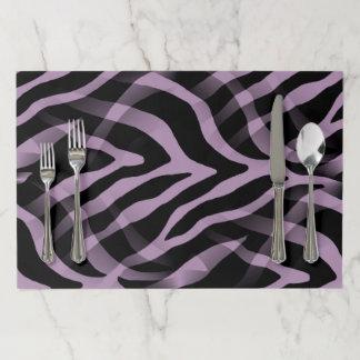 Salvamantel De Papel Impresión púrpura de las rayas de la cebra de la