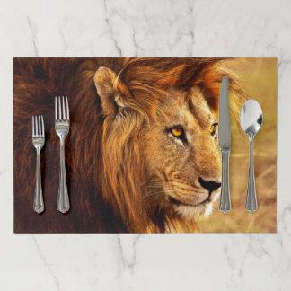 Salvamantel De Papel La foto noble del león