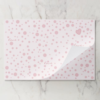 Salvamantel De Papel Lunares rosados y un corazón