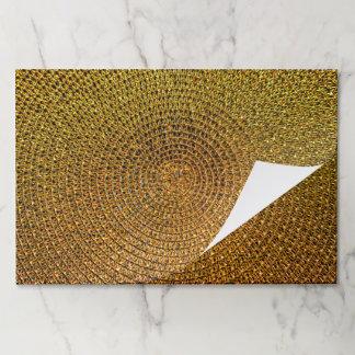 Salvamantel De Papel Modelo espiral del oro