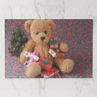 Salvamantel De Papel Oso de peluche con muchos regalos del navidad