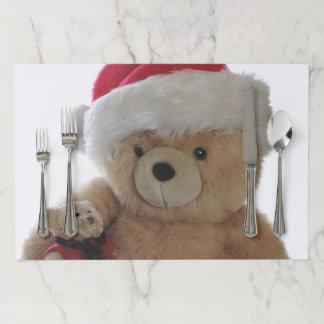 Salvamantel De Papel Oso de Santa con poco oso