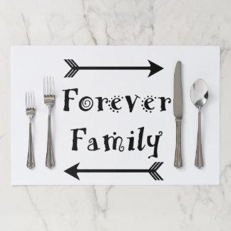 Salvamantel De Papel Para siempre familia - diseño de Adpotion