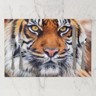 Salvamantel De Papel Pintura masculina del tigre siberiano
