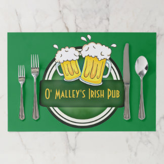Salvamantel De Papel Pub irlandés casero personalizado
