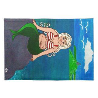 Salvamanteles 3ro Sirena cómica en un sistema de seis