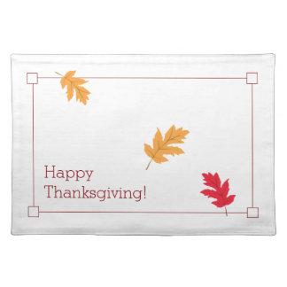 Salvamanteles Acción de gracias con clase, colorida, y festiva
