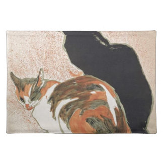 Salvamanteles Acuarela - 2 gatos - Théophile Alejandro Steinlen