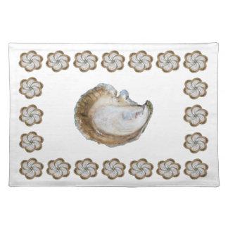 Salvamanteles Algodón Placemat - diseño C de la ostra