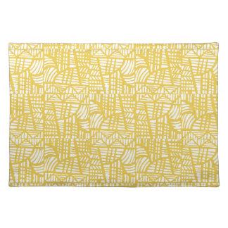Salvamanteles Amarillo del mosaico