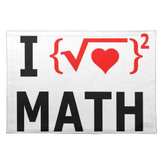 Salvamanteles Amo blanco de la matemáticas