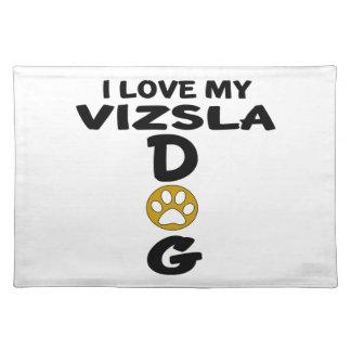Salvamanteles Amo mis diseños del perro de Vizsla