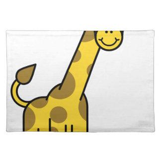 Salvamanteles Animal de la jirafa del dibujo animado