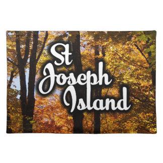 Salvamanteles Árboles de arce de la isla de San José