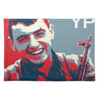 Salvamanteles Arte kurdo 2 del combatiente 2 de YPG