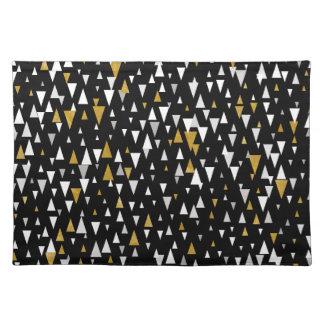 Salvamanteles Arte moderno del triángulo - oro negro
