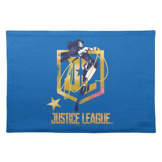 Salvamanteles Arte pop del logotipo de la Mujer Maravilla JL de