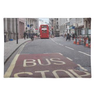 Salvamanteles Autobús del autobús de dos pisos en Londres