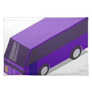 Salvamanteles Autobús púrpura