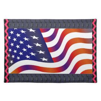 Salvamanteles Bandera americana Placemat