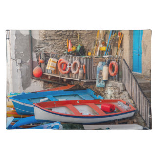 Salvamanteles Barcos en Cinque Terre Italia