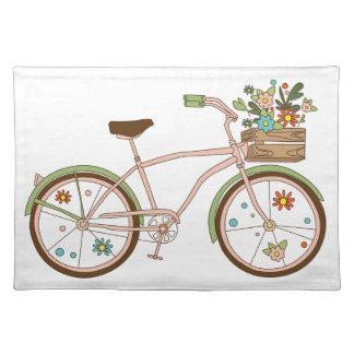 Salvamanteles Bicicleta retra con karzinkoy para las flores