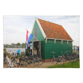 Salvamanteles Bicicletas, pueblo holandés del molino de viento,