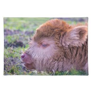Salvamanteles Cabeza del becerro escocés recién nacido marrón