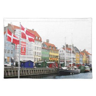 Salvamanteles Canal de Nyhavn en Copenhague, Danmark