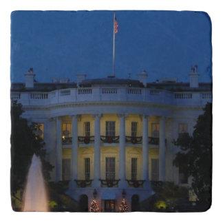 Salvamanteles Casa Blanca del navidad en la noche en Washington
