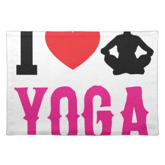 Salvamanteles chica del amor de la yoga lindo