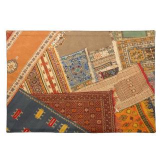 Salvamanteles Cierre del collage de la alfombra para arriba