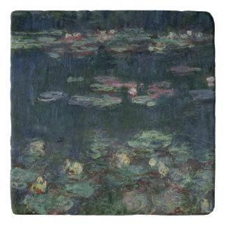 Salvamanteles Claude Monet el | Waterlilies: Reflexiones verdes