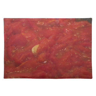 Salvamanteles Cocinar la salsa de tomate hecha en casa usando