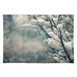 Salvamanteles Cojín de ratón del árbol Nevado