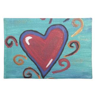 Salvamanteles Colección roja de los corazones
