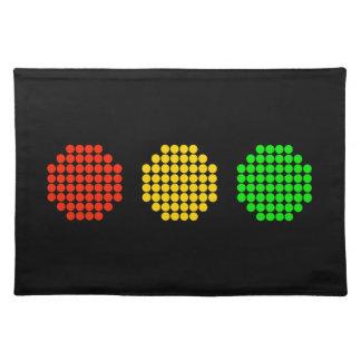 Salvamanteles Colores horizontales de la luz de parada del punto