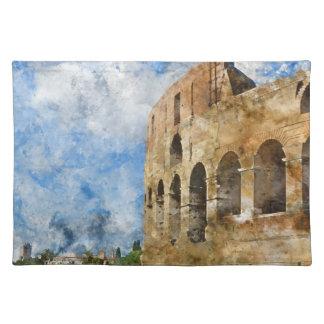 Salvamanteles Colosseum antiguo en Roma Italia
