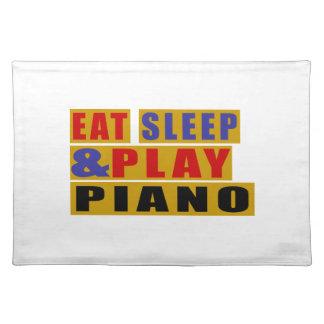 Salvamanteles Coma el PIANO del sueño y del juego