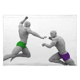 Salvamanteles Concepto de los artes marciales para luchar y la