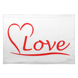 Salvamanteles Corazón con amor