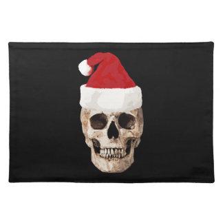 Salvamanteles Cráneo de Papá Noel - el navidad es muerto